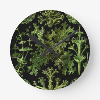 "Saltwater Plants""Dessins sous Marin Plante"" Round Clock"