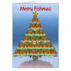 Saltwater Reef Aquarium Fish Christmas Card
