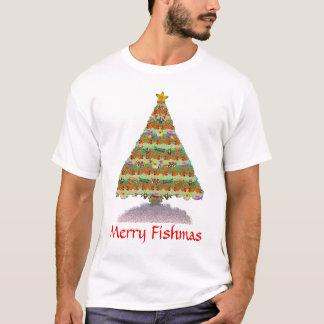 Saltwater Reef Aquarium Fish Christmas Tree Shirt