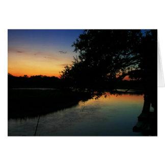 Saltwater Sunset Card