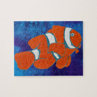 saltwater tropical clown fish jigsaw puzzle