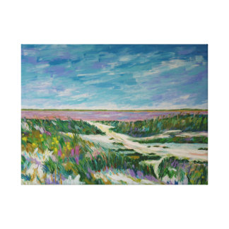 Saltworks of the Camargue Canvas Print
