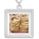 salty baked goods square pendant necklace