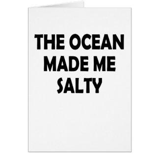 salty card
