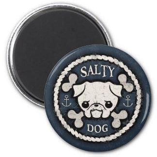Salty Dog -bd 2 Inch Round Magnet