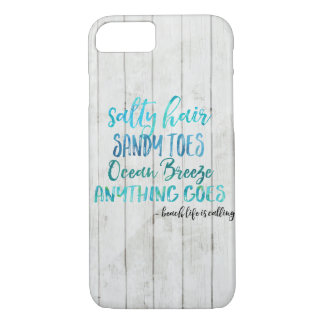 Salty Hair Sandy Toe Ocean Beach Quote iphone case