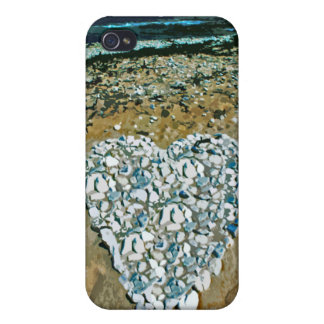 Salty Heart in Rocks iPhone Case Covers For iPhone 4