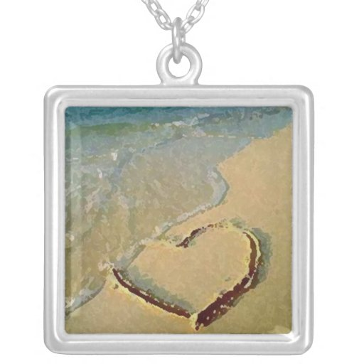 Salty Heart in Sand Necklace