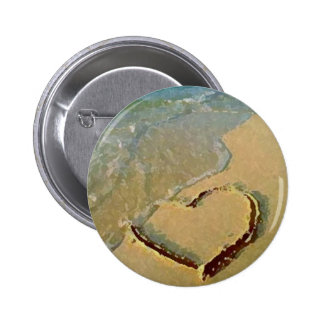 Salty Heart in Sand Pin