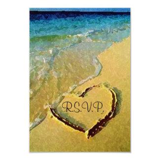 Salty Heart Wedding RSVP Card