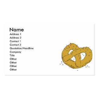 salty hot soft pretzel business cards