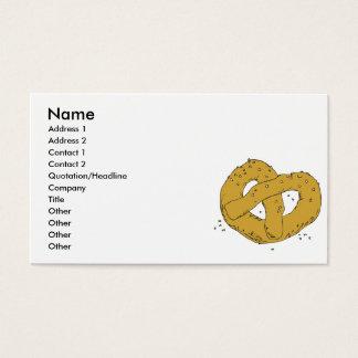 salty hot soft pretzel business card