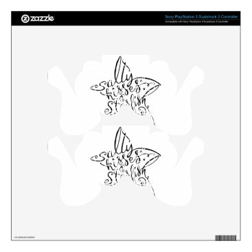 Beach Themed Salty Kisses and Starfish Wishes Hand Lettering Decal For PS3 Controller