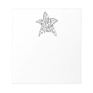 Salty Kisses and Starfish Wishes Hand Lettering Notepad