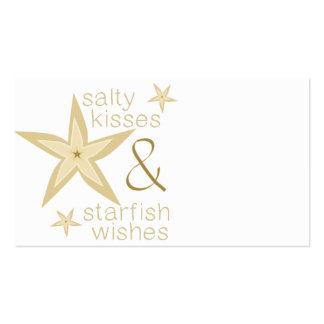 Salty Kisses Starfish Wishes Business Card Templates