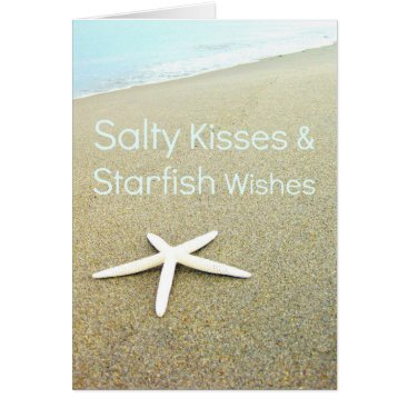 BeachBlissLiving Salty Kisses & Starfish Wishes Card