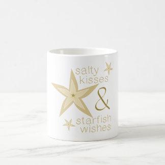Salty Kisses Starfish Wishes Classic White Coffee Mug