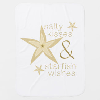 Salty Kisses Starfish Wishes Receiving Blanket