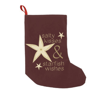 Salty Kisses Starfish Wishes Small Christmas Stocking