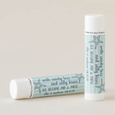 Beach Themed Salty Kisses | Wedding Favor Lip Balm