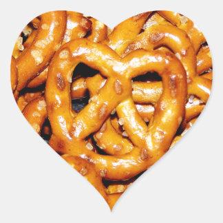 Salty Pretzels Heart Sticker