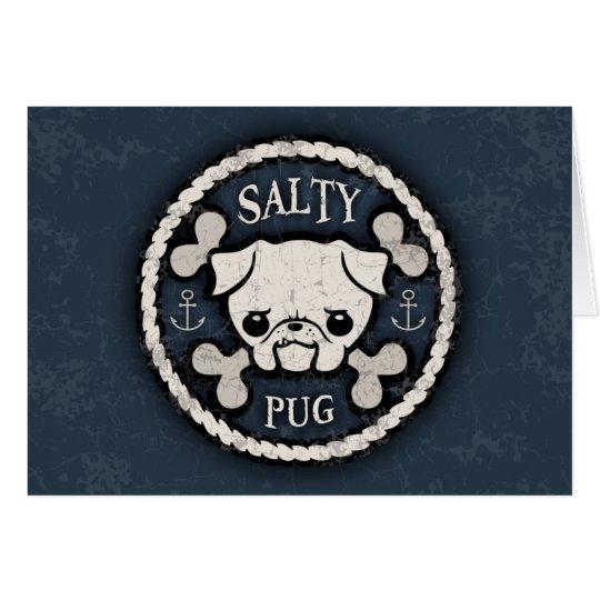 Salty Pug Card