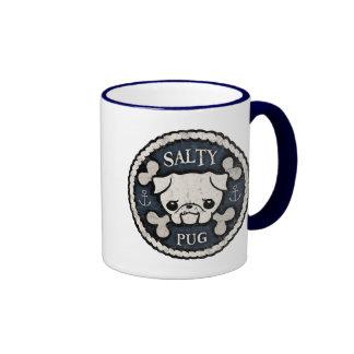 Salty Pug Ringer Mug