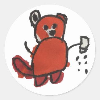 Salty Red Panda Sticker