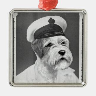 Salty Sea Dog Sealyham Sailor gift Metal Ornament
