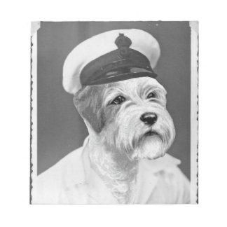 Salty Sea Dog Sealyham Sailor gift Scratch Pad