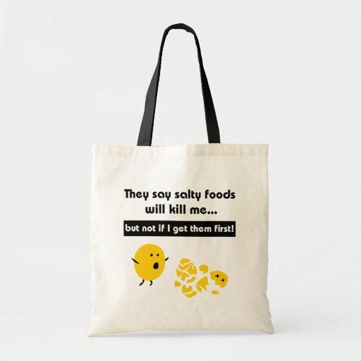 Salty Snacks Canvas Bags
