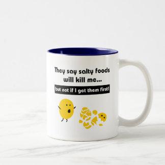 Salty Snacks Two-Tone Coffee Mug