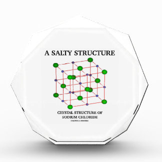 Salty Structure Crystal Structure Sodium Chloride Acrylic Award