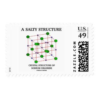 Salty Structure Crystal Structure Sodium Chloride Stamps
