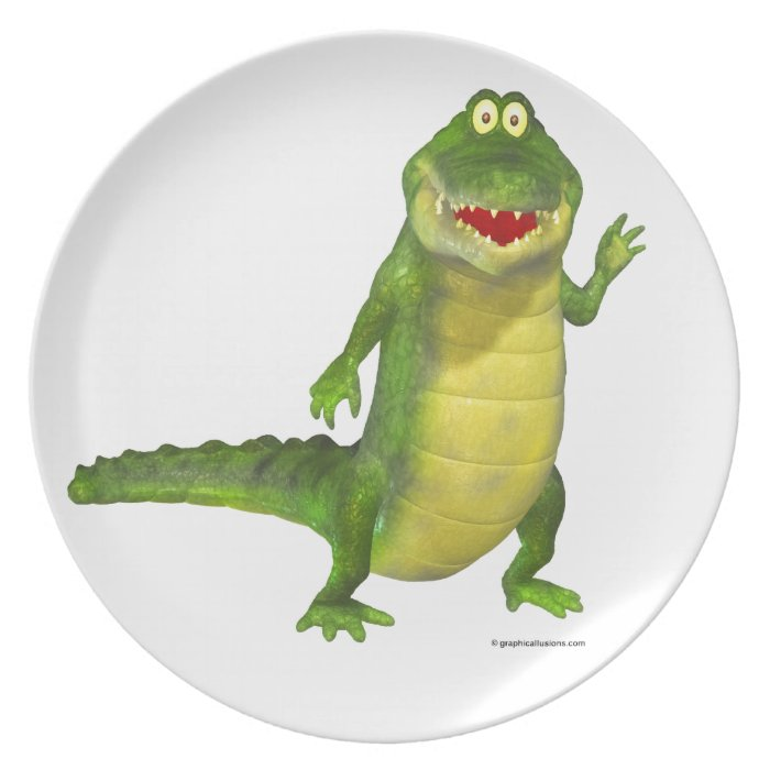 Salty the Crocodile Dinner Plate