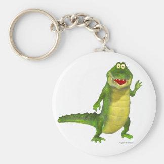 Salty the Crocodile Keyring Basic Round Button Keychain