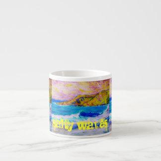 salty waves Art Espresso Cup