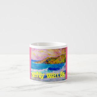 salty waves espresso cup