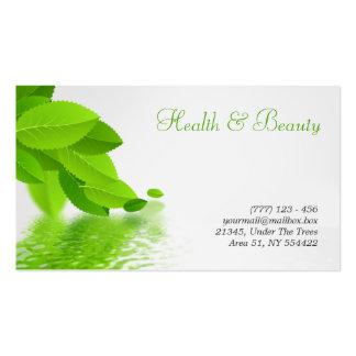 salud, balneario y tarjeta de visita de la belleza
