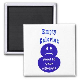 Salud, calorías vacías, dolencias imán cuadrado