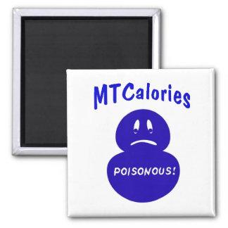 Salud, calorías vacías imán cuadrado