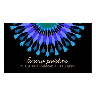 Salud curativa de Lotus de la flor de la yoga Tarjetas De Visita