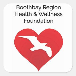 Salud de Boothbay y pegatina de la fundación de la
