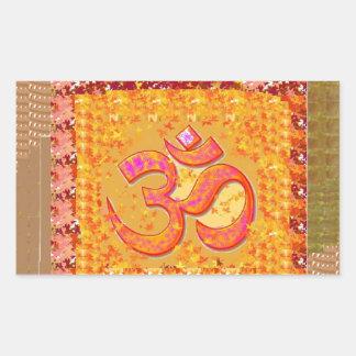 SALUD de la meditación de la yoga del canto de Rectangular Pegatina