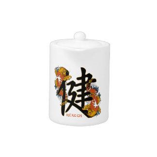 Salud de los pescados de Koi del kanji