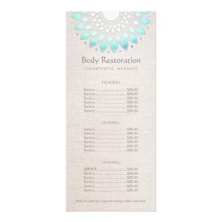 Salud de Lotus azul y menú de la lista de precios Lonas Personalizadas