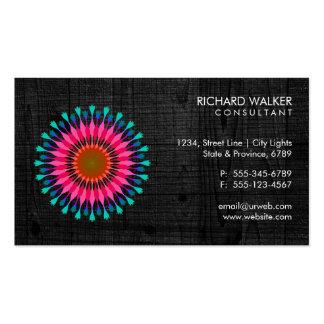 Salud de madera negra floral elegante de la salud tarjetas de visita