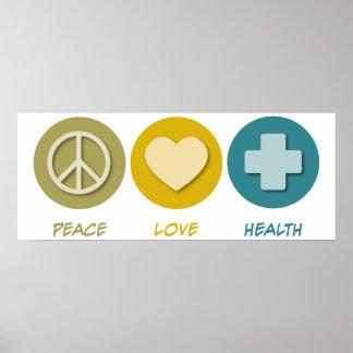 Salud del amor de la paz impresiones