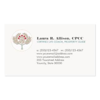 Salud del árbol de la prosperidad y artes curativo tarjeta de visita
