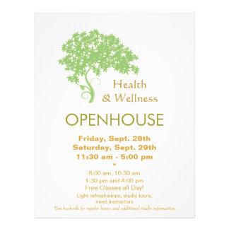 Salud del árbol verde y naturaleza holísticas de tarjeta publicitaria